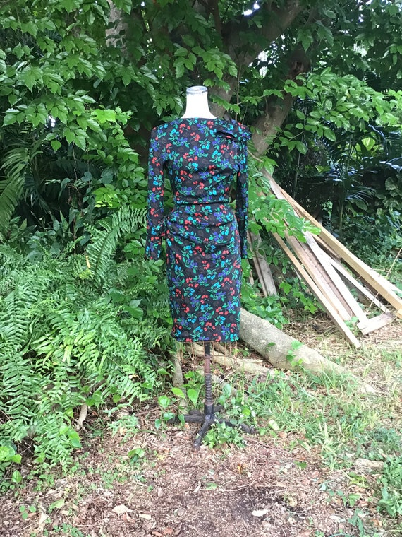 Vintage Silk Dress 1980s
