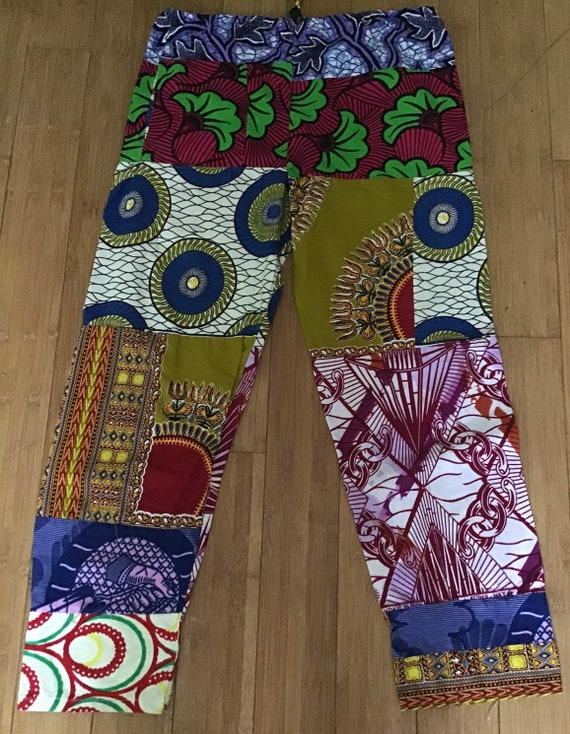 Boho chic cotton African print pants
