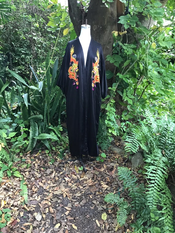 Vintage silk Chinese Robe