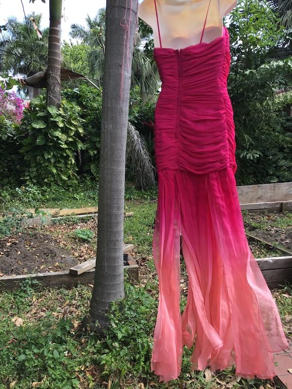 Vintage chiffon silk Dress - image 6