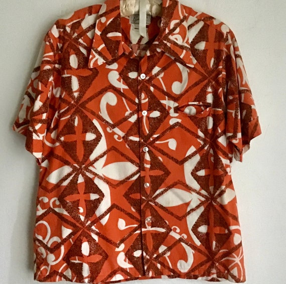 1960s cotton short sleeve shirt from California