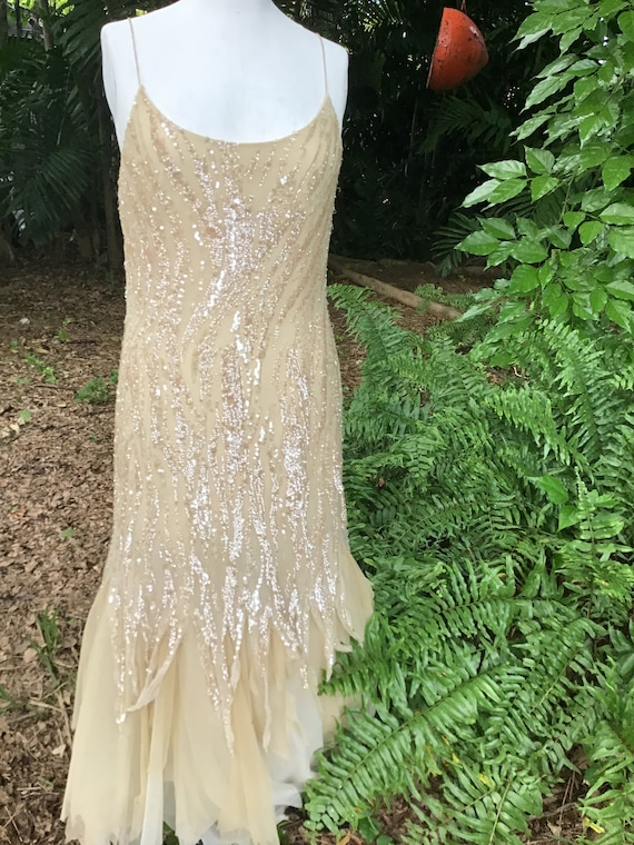 Dolce Jovani vintage 1980s maxi dress with sequins