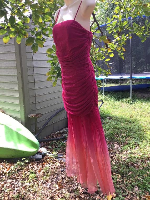 Vintage chiffon silk Dress - image 9