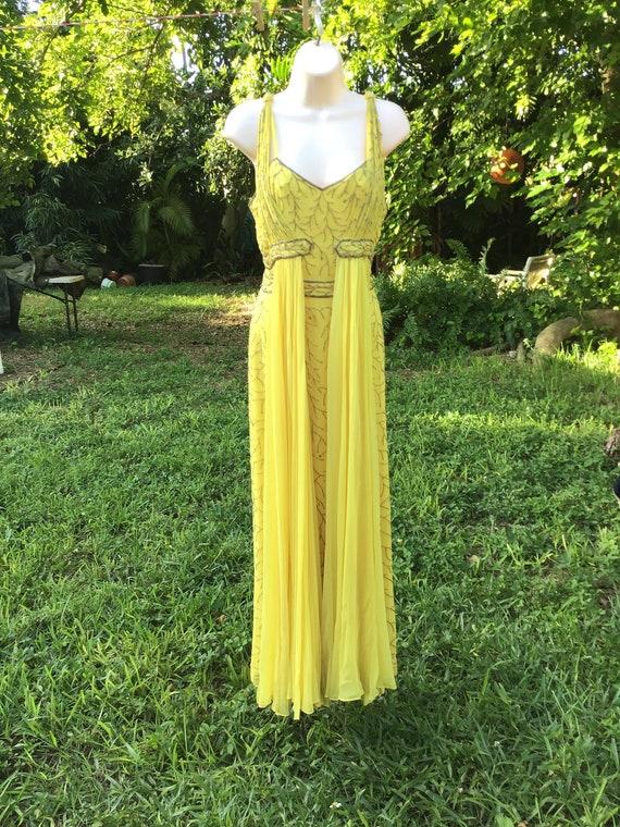 Chiffon silk dress with beads - image 1