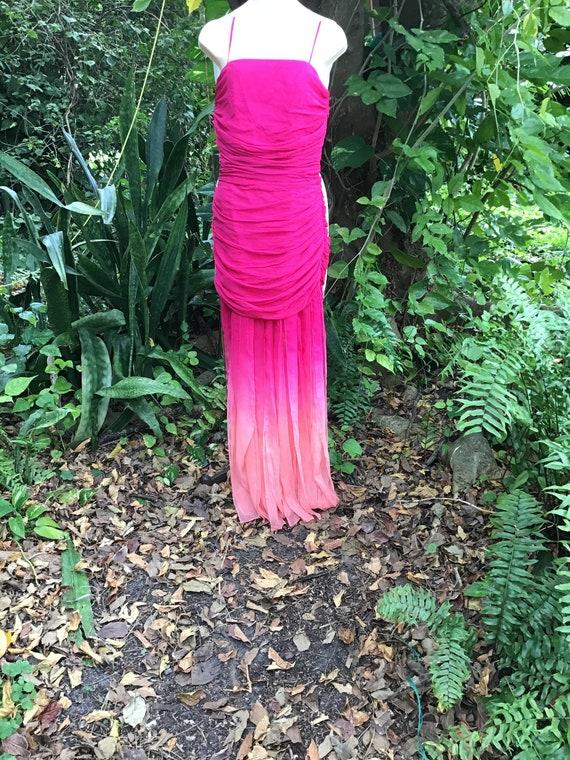 Vintage chiffon silk Dress - image 1