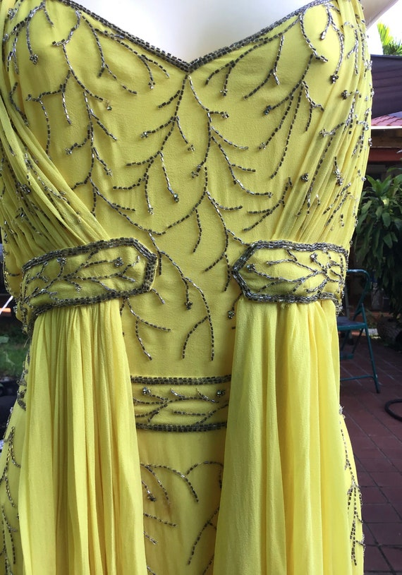 Chiffon silk dress with beads - image 6