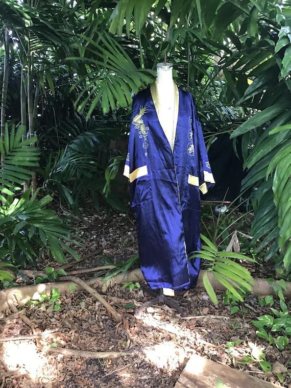 Satin reversible Chinese Robe