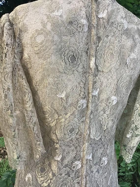 Vintage Albert Nipon dress silk lace - image 5