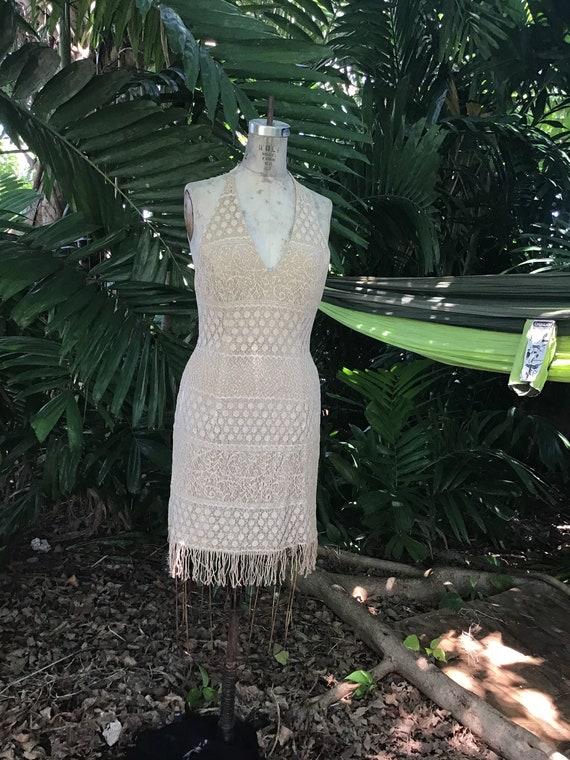 Vintage 1980s halter dress