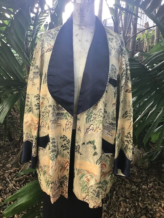 Vintage Chinese cocktail jacket 1960s