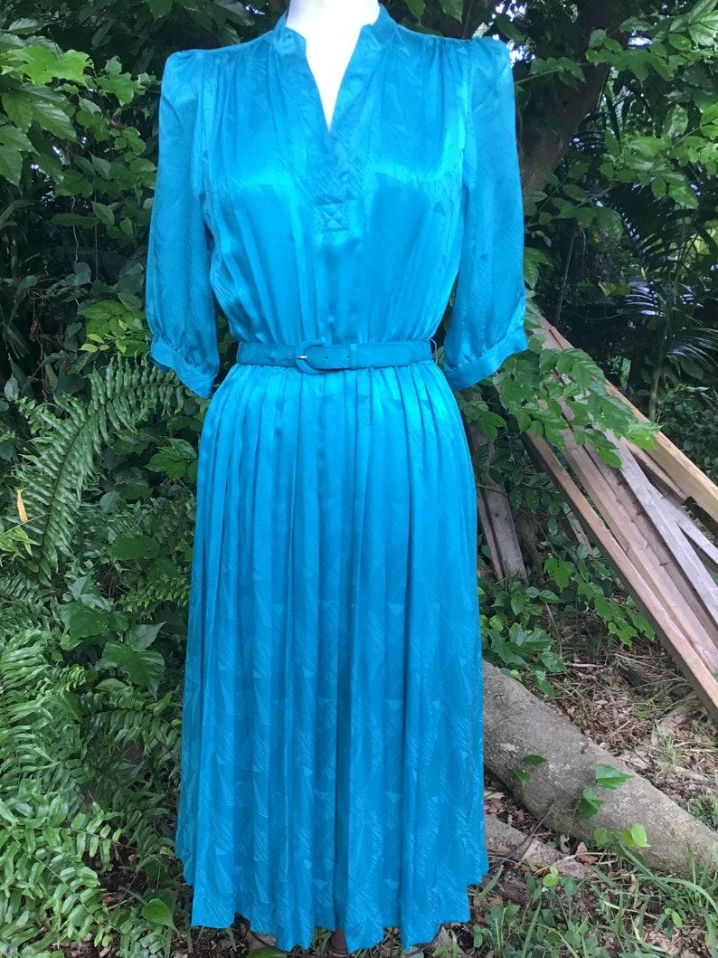 Vintage silk pleated Dress