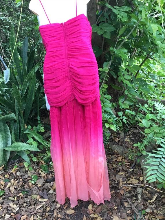 Vintage chiffon silk Dress - image 8
