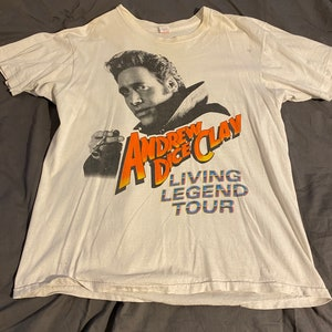 1991 Andrew Dice Clay \u201cLiving Legend\u201d Tour Shirt 90s 1990s Comedy MTV Stand Up