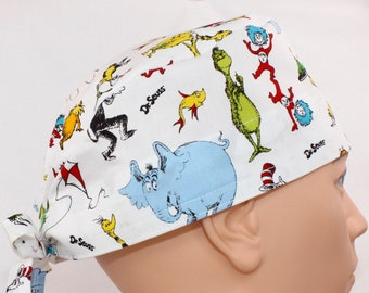 Seuss The Cat In The Hat Dr Details about  /surgical cap//hat  bouffant style