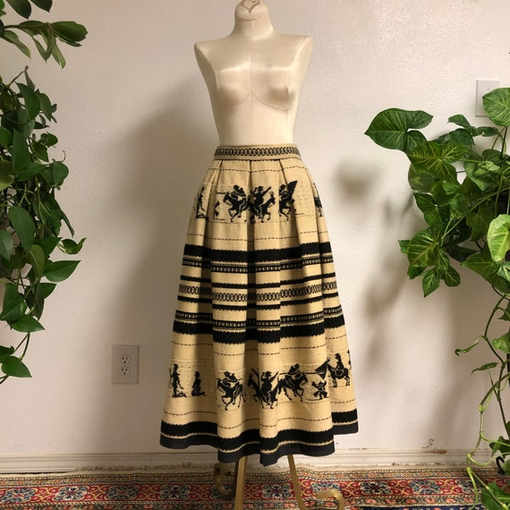 1940s-50s Spanish Wool Skirt