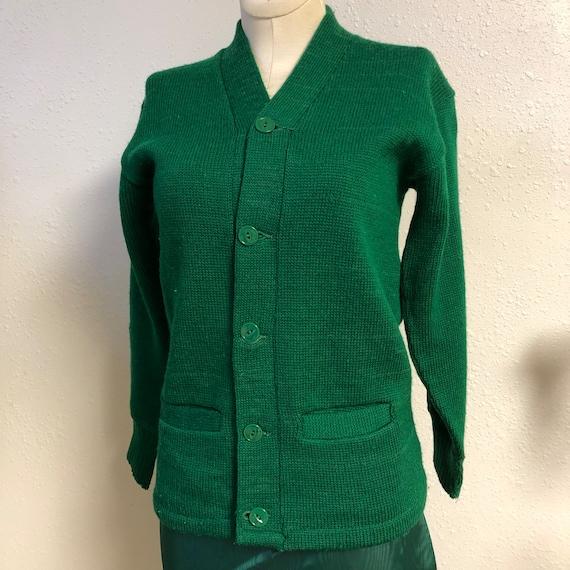 1940s Wool Collegiate Cardigan