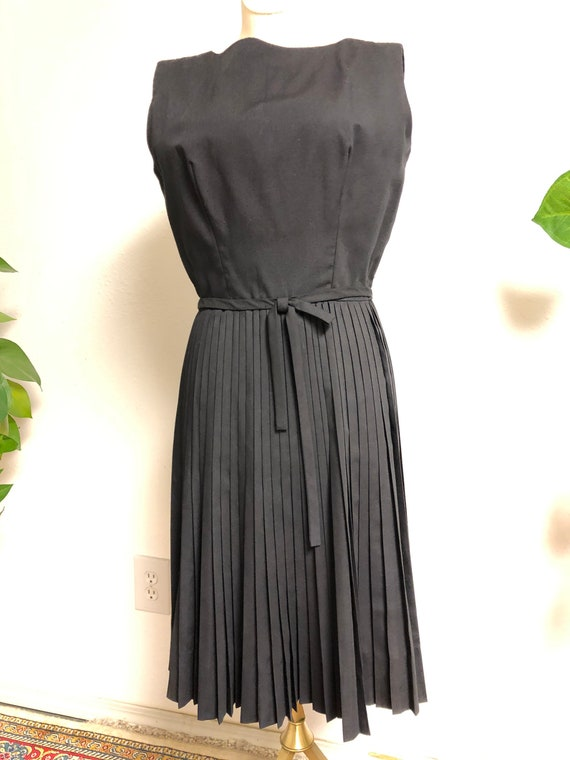 1960's LANZ Cotton Pleated Cocktail Dress