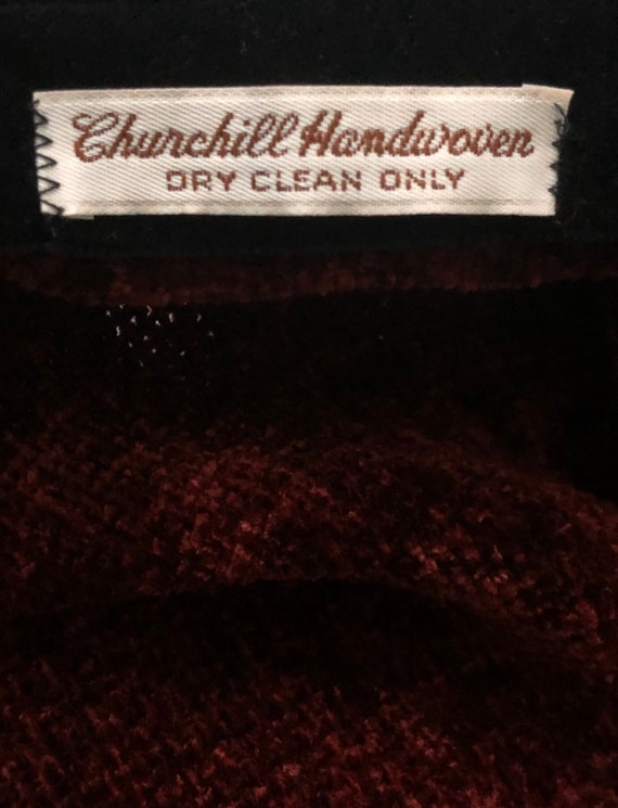 Vintage Churchill Handwoven Fringe Plaid Chenille… - image 10