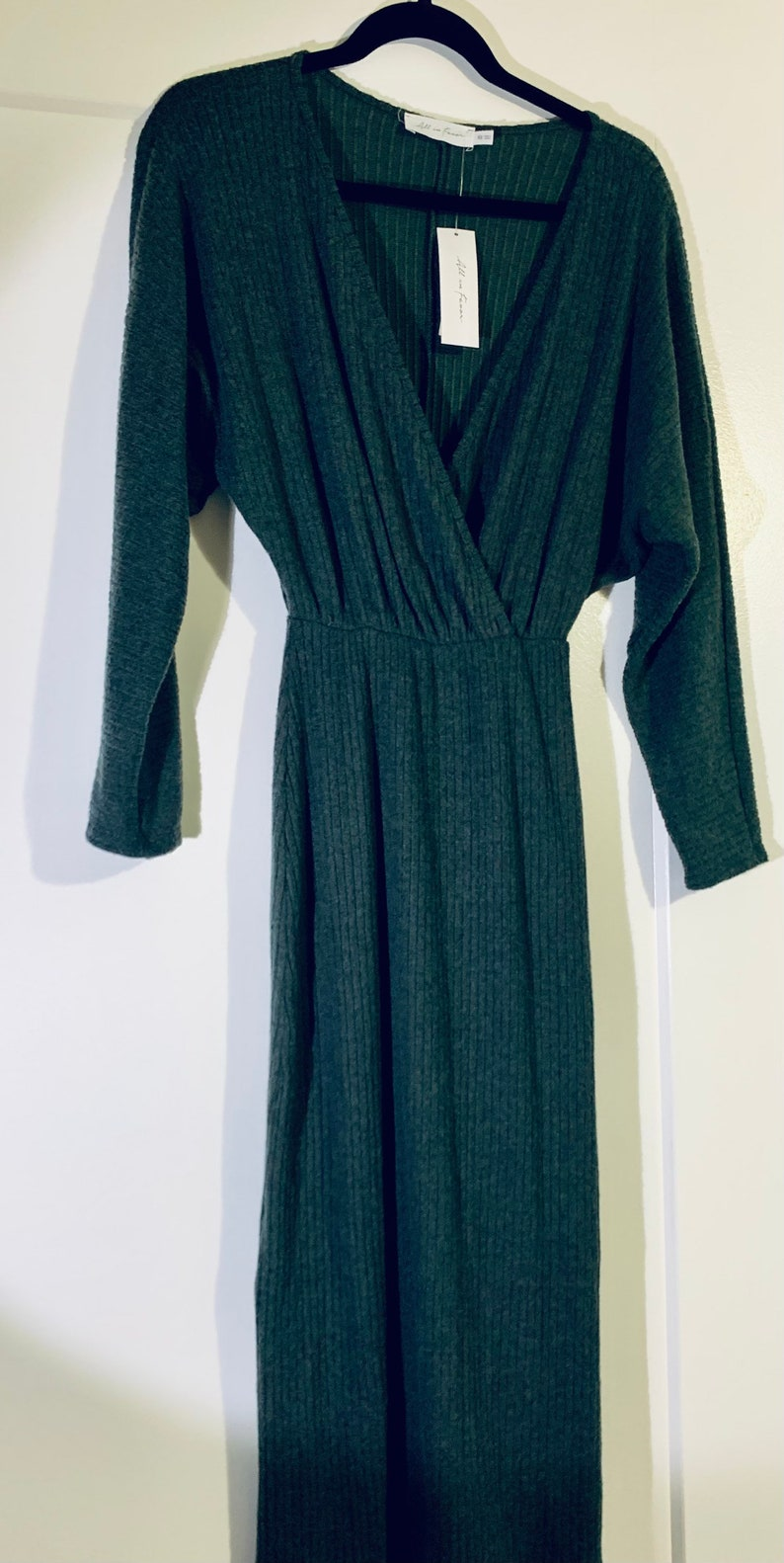 NWT All in Favor Cozy Ribbed Midi Dress Size XS