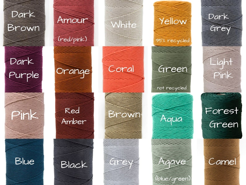 Single Strand Cotton Rope Recycled Cotton Macrame Cord 4mm Macrame Cotton Cord 50 ft Macrame Supplies 100/% Cotton Cord 1 Ply 25 ft 100 ft