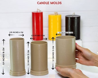 """2/"""" x 6.5/"""" Round Aluminum Pillar Candle Mold Made in USA NEW"""