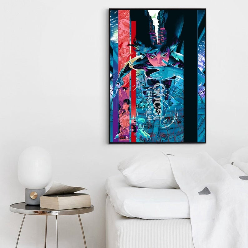 No Frame Ghost In The Shell Anime Poster Canvas Art Wall Home Decor