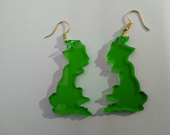 Star shaped Acrylic Earrings Choice of pendant and earwire colours