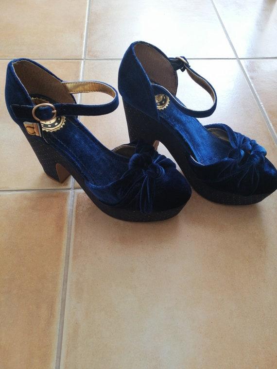 50s style Carmen Miranda shoes