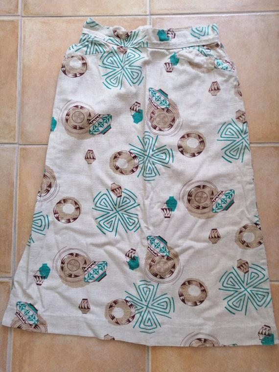 Linen summer skirt