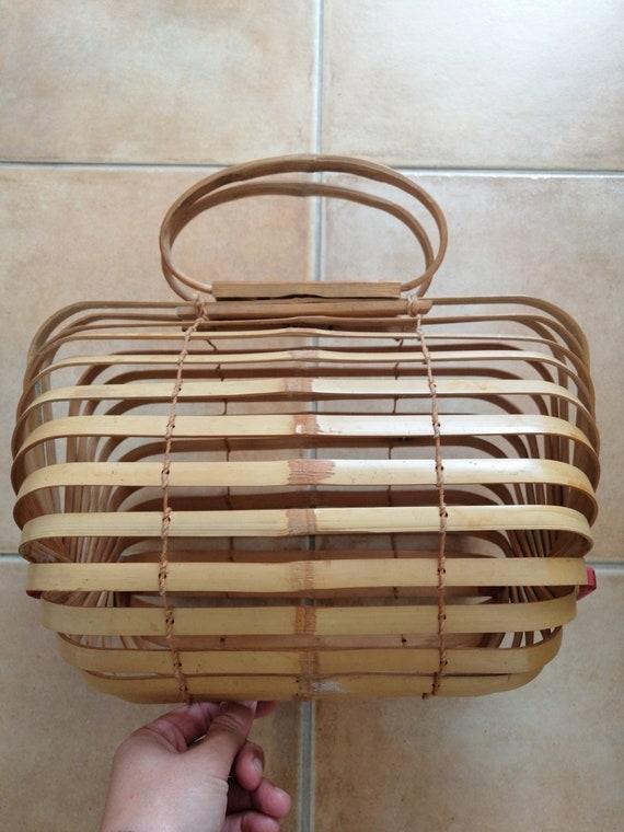 50s Tiki bamboo purse