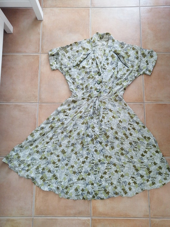 50s novelty print summer dress