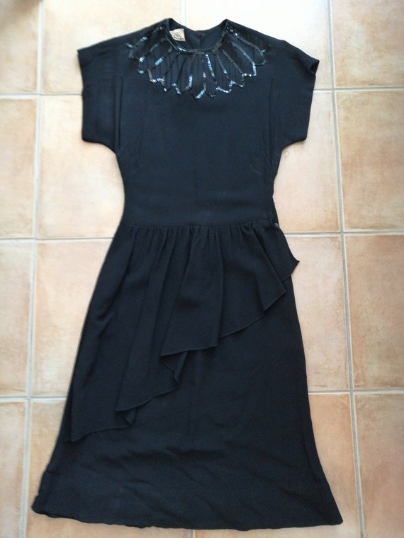 50s evening black dress