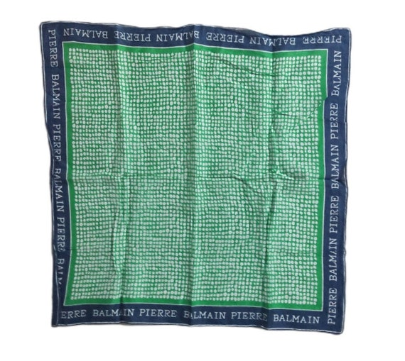 PIERRE BALMAIN Square Silk Silk Scarf Luxe Design