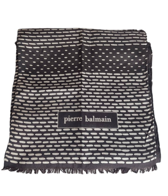 PIERRE BALMAIN Silk Scarf Silk Scarf Design Circle
