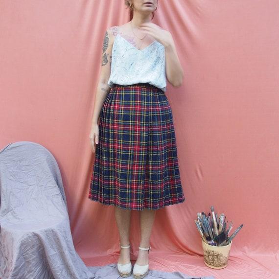 Vintage Tartan Plaid check Skirt