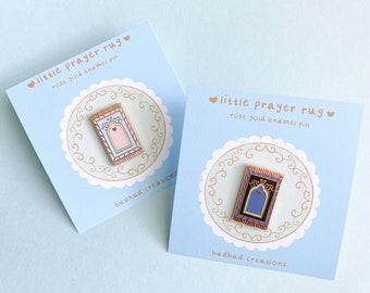 Enamel Pin-Little Prayer Rug Pastel Enamel Pin, Muslim Pin, Hijabi Enamel Pin, Muslim Enamel Pin, Islamic Pin Enamel, Prayer Rug Pin