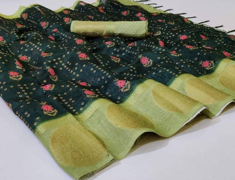 Black Handloom Linen With Digital Printed saree and blouse for women saree dress dress for women,traditional saree,saris indian saree