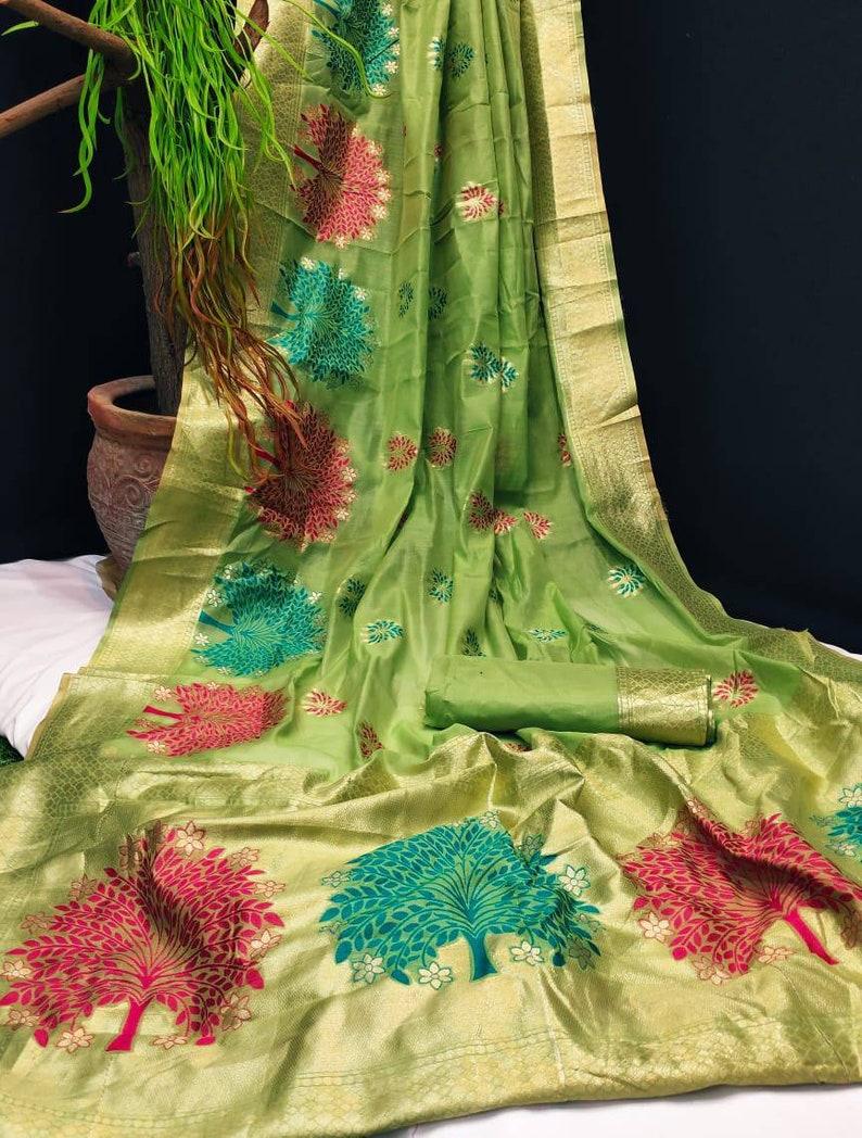 Saree,saree for women,Saree dress,wedding saree,Indian saree,green saree kora chanderi saree,traditional saree,sari,saris,saree dress