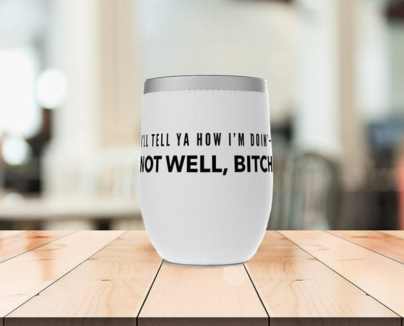 Dorinda Medley RHONY Stemless Wine Tumblers ft Not Well Real Housewives of New York Bitch