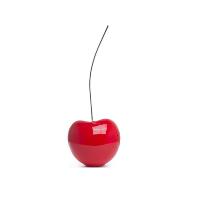 Red Cherry Art Medium Red Cherry Sculpture Red Cherry Decor Cherry Statue Modern Decor Art Deco Decor Fruit Decor