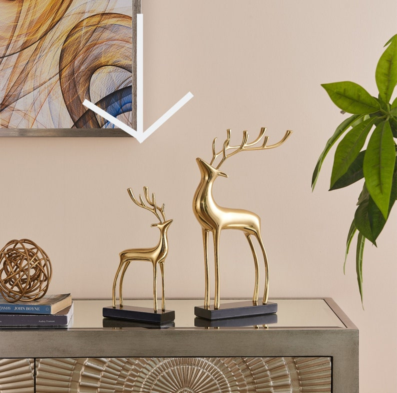 Animal Lover perfect gift deer lovers Gold Decor Small Gold Deer Sculpture  Finesse  Modern Decor unique