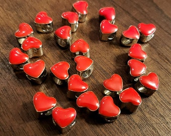 heart European beads with Word Large Hole Beads Nickel Free /& Lead Free 3 Pcs Mom Heart Beads Antique Silver hole 5mm 11x12x10mm
