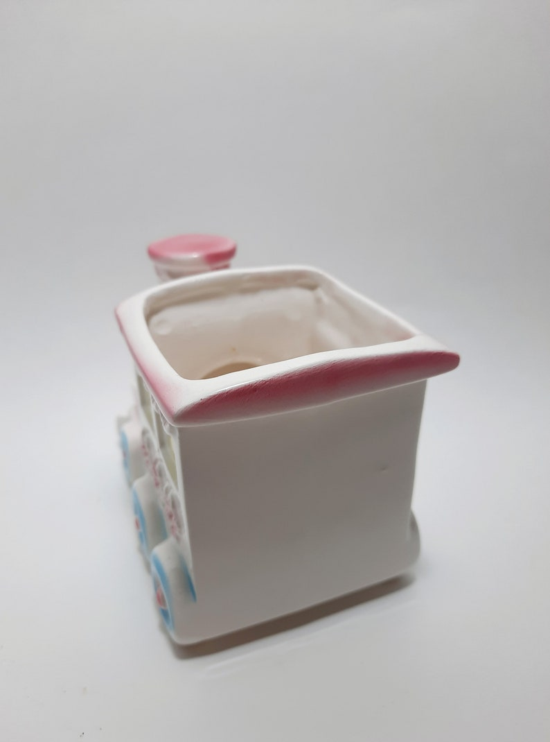 Mid Century Baby Train Ceramic Planter Vintage Train Planter Vintage Nursery  Baby Room Decor