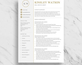 Executive Resume Template with Cover Letter and Reference Page   Instant Download   Resume Template for Word  