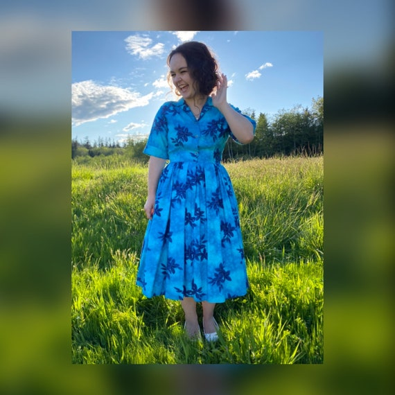 1950s Small Island Casuals Hawaiian Dress
