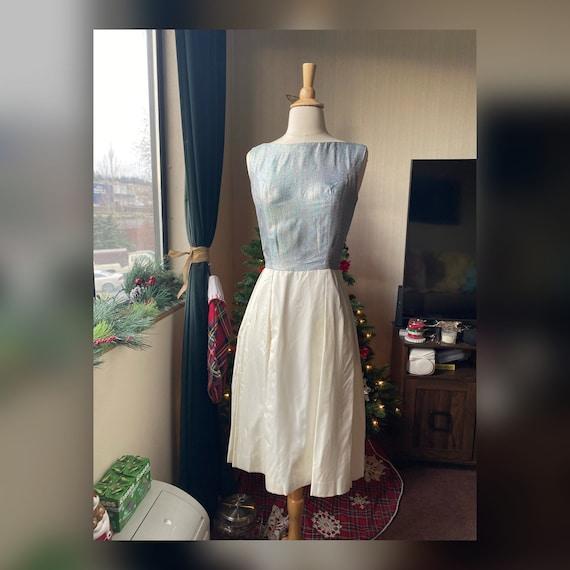 1950s S/XS Rainbow Dress, 50s Dress as/is
