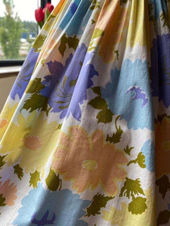 1960s Pastel Floral Dress XS, 60s Floral, 60s Sum… - image 10