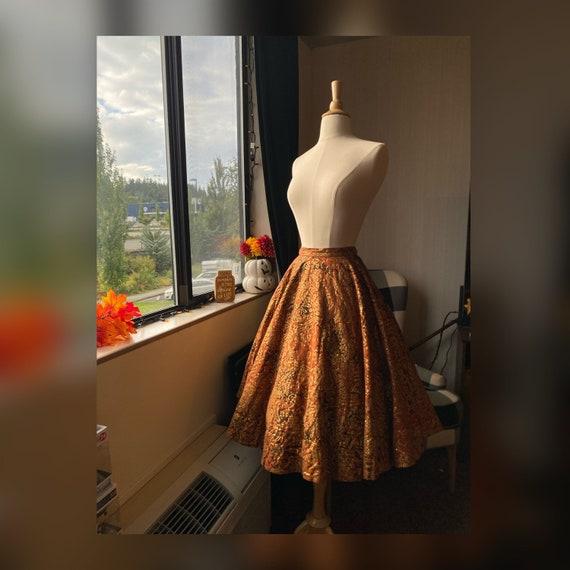 1950s Small Maya De Mexico Circle Skirt, 50s Mexic