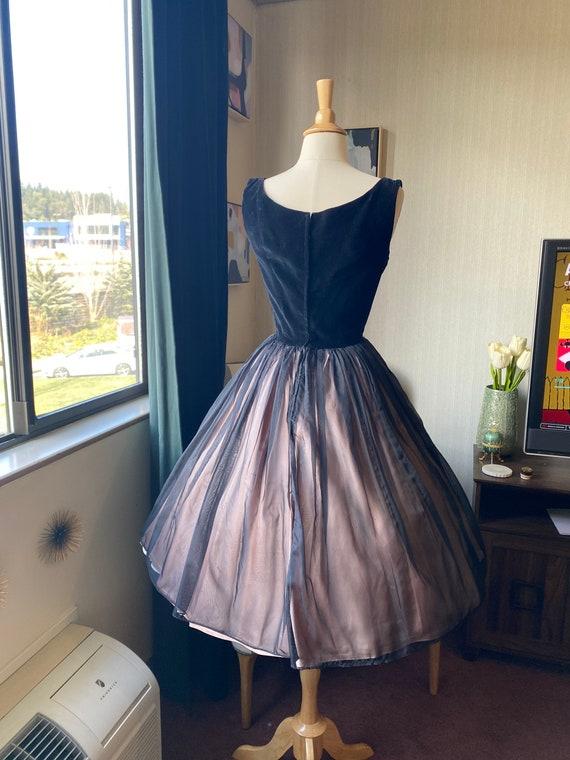 1950s XS Black Cocktail Dress, 50s Party Dress, 5… - image 7