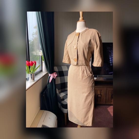 1950s Bonwit Teller Wiggle Dress and Bolero Set, 5